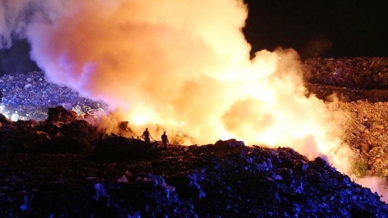 28.4.2019 – Požár skládky komunálního odpadu Siřejovice